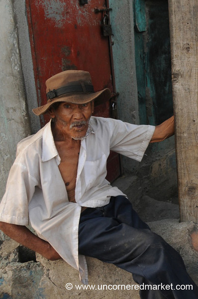 Elderly Man with a Hat - Santa Ana, El Salvador