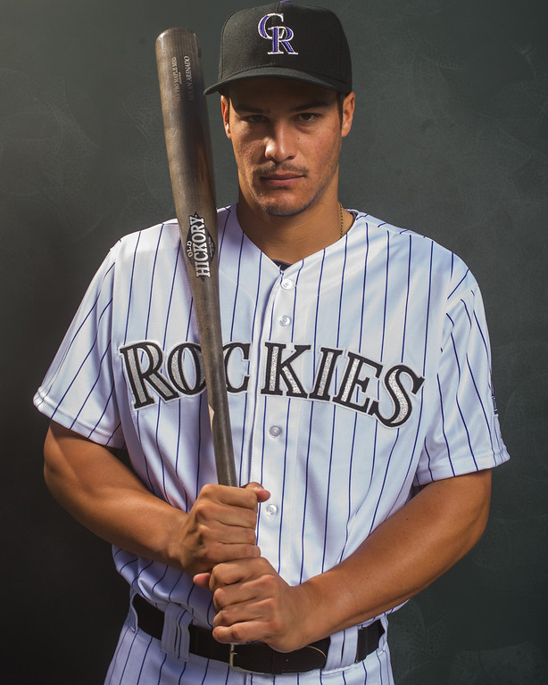 . 28 Nolan Arenado Position: 3B Height: 6-1 Weight: 205 Bats/throws: Right/right  Expectations: After becoming the first NL rookie third baseman to win a Gold Glove, Arenado has focused on being a more patient, more impactful hitter. A goal of 20 homers and 80 RBIs is realistic, and an All-Star Game could be in his future.    2014 salary: $500,000  (Photo by Rob Tringali/Getty Images)
