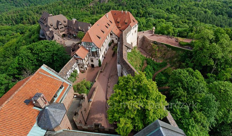 First courtyard of the Wartburg.