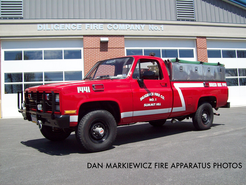 DILIGENCE FIRE CO. BRUSH 1441 1984 CHEVY/DFC BRUSH UNIT