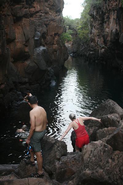 Snorkeling in Las Grietas.