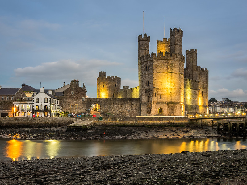 Evening on Caernarfon Castle, Wales