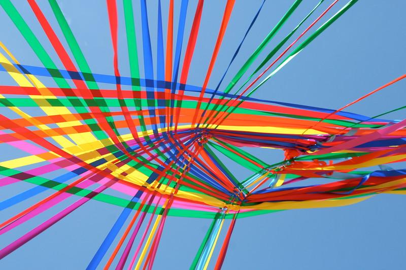 A rainbow ceiling