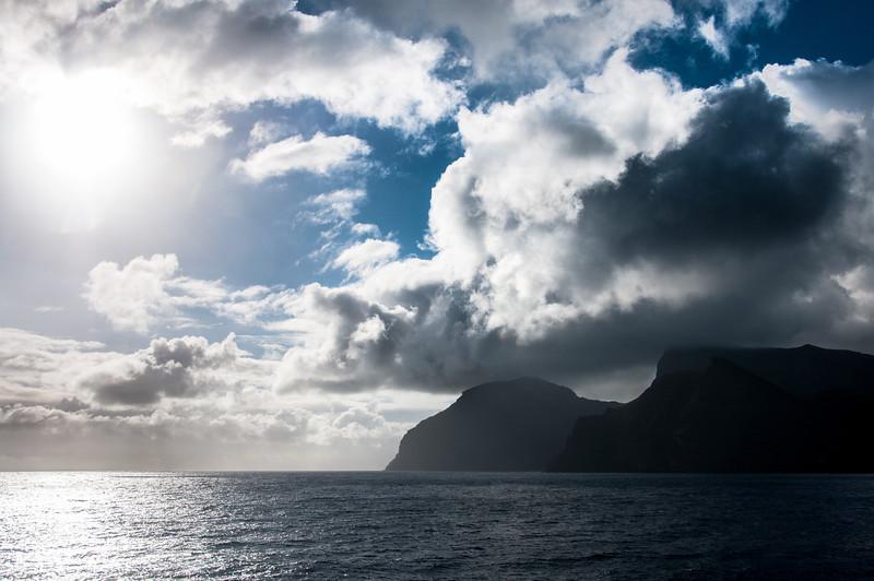 Scenery in the island of St. Helena
