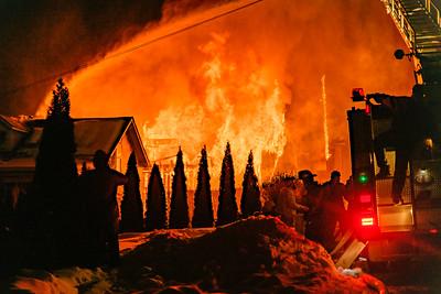 02/12/21 Whitehall Garage Fire