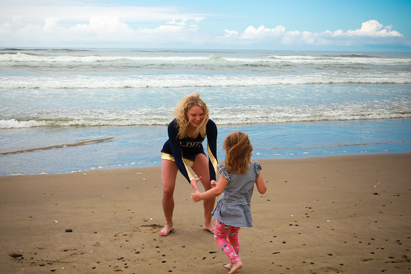 Mia & Carly at the Beach Sept 2018