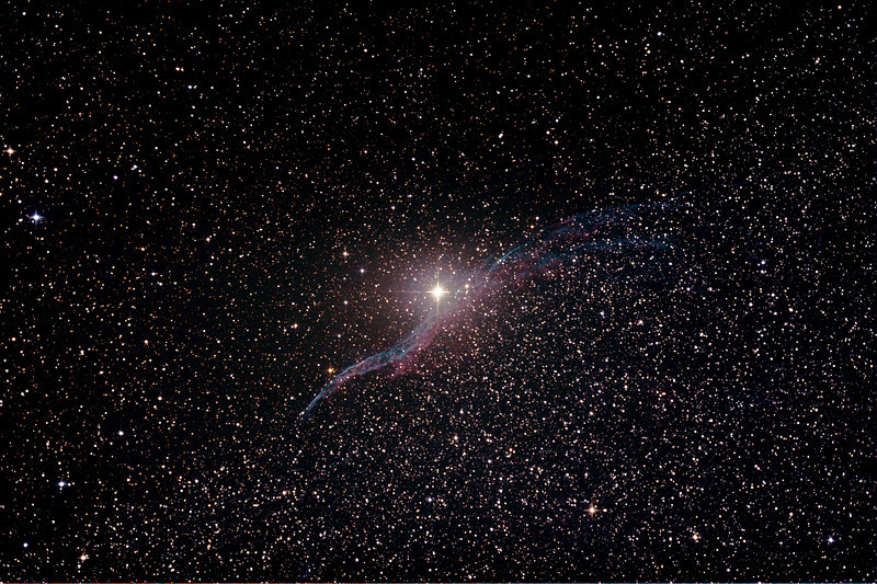 Caldwell 34 - NGC6960 - Western Veil or Witch's Broom Nebula Supernova remnant - 3/8/2013 (Processed  stack)