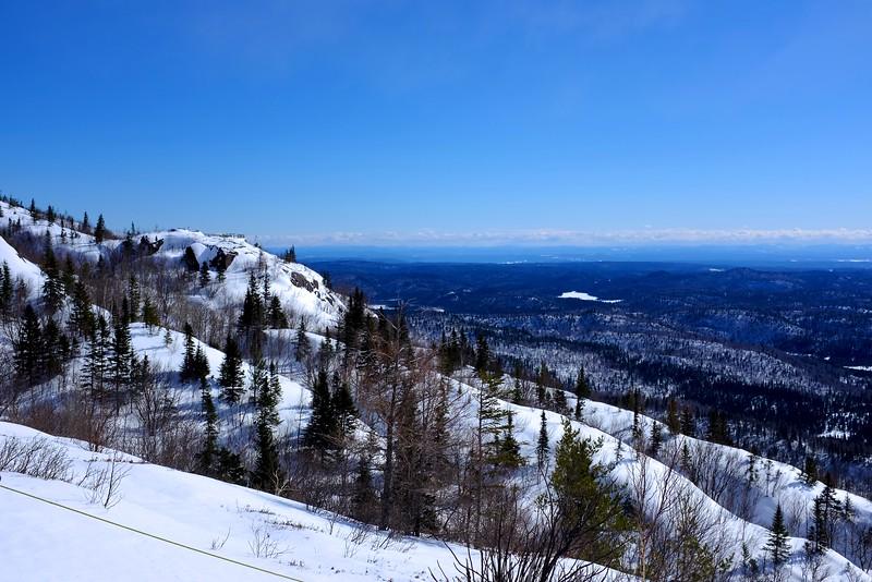 Snow shoeing at parc national des monts Valin; Saguenay