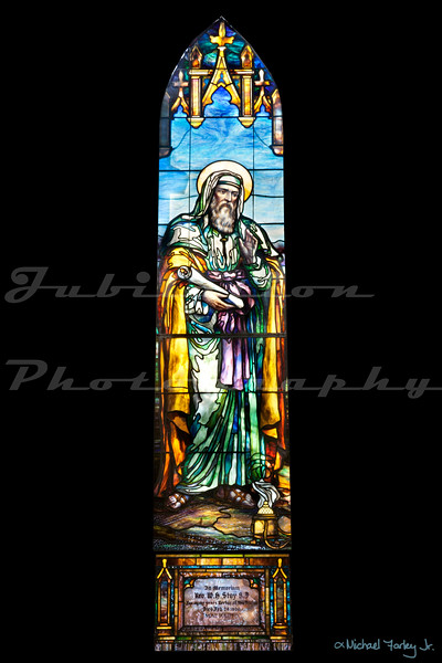 Saint John's Episcopal Church, Marysville, CA.  This window is from the original 1854 building, but the building itself was built in 1942.