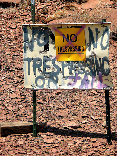 "Old Rt. 66; near Winslow, Arizona  ""Please, officer; we're just suntanned"""