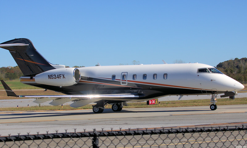 BOMBARDIER INC BD-100-1A10 Challenger 300  c/n  20161 N534FX FLEXJET LLC  CLEVELAND , OH, US Dekalb Peachtree (KPDK), Ga, 11/16/2020, Departing for Lexington KY (KLEX) as LX1534  This work is licensed under a Creative Commons Attribution- NonCommercial 4.0 International License.