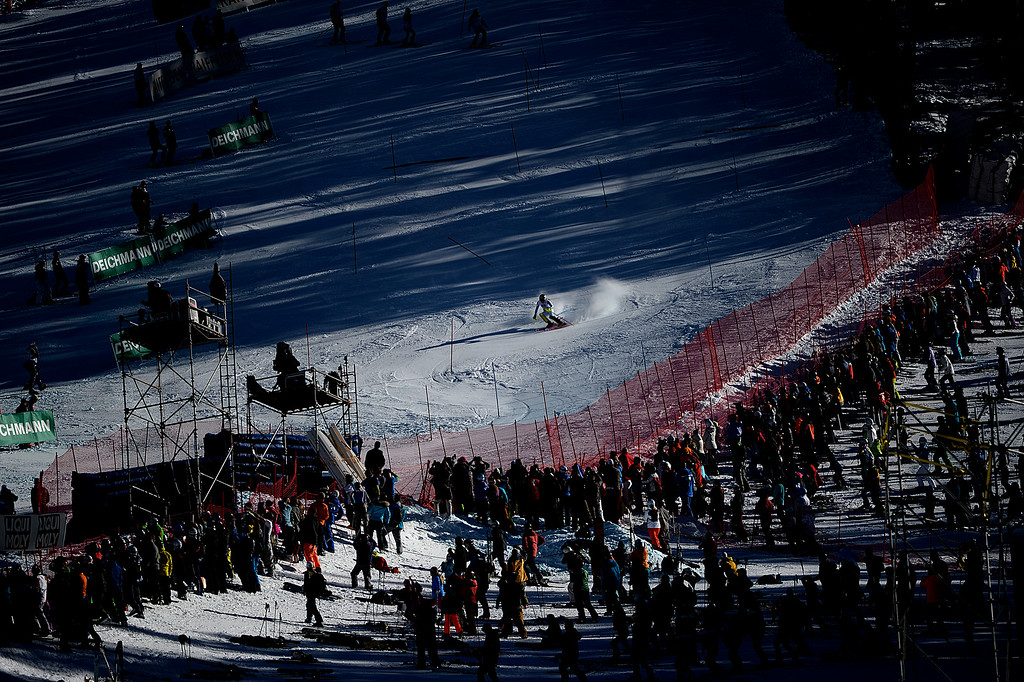 . USA\'s Mikaela Shiffrin during her gold-medal-winning run the ladies\' slalom. FIS Alpine World Ski Championships 2015 on Saturday, February 14, 2015. (Photo by AAron Ontiveroz/The Denver Post)