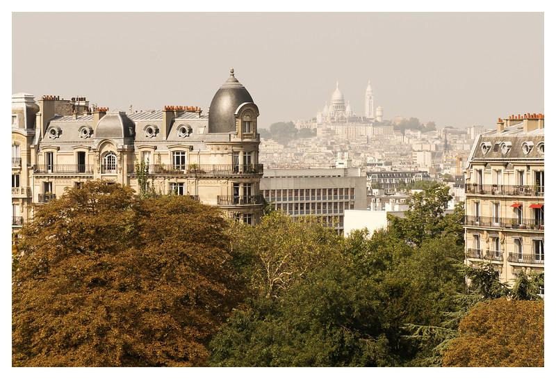 Interesting view of Sacre Coeur from Parc des Buttes-Chaumont