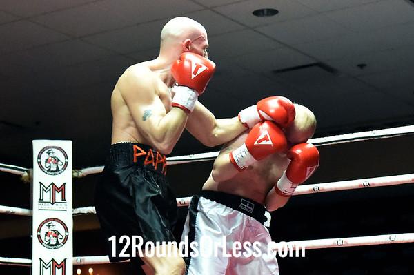 Bout 3 Bryant Pappas, New York, NY -vs- Andrew Hartley, Nashville, TN, 160 lbs