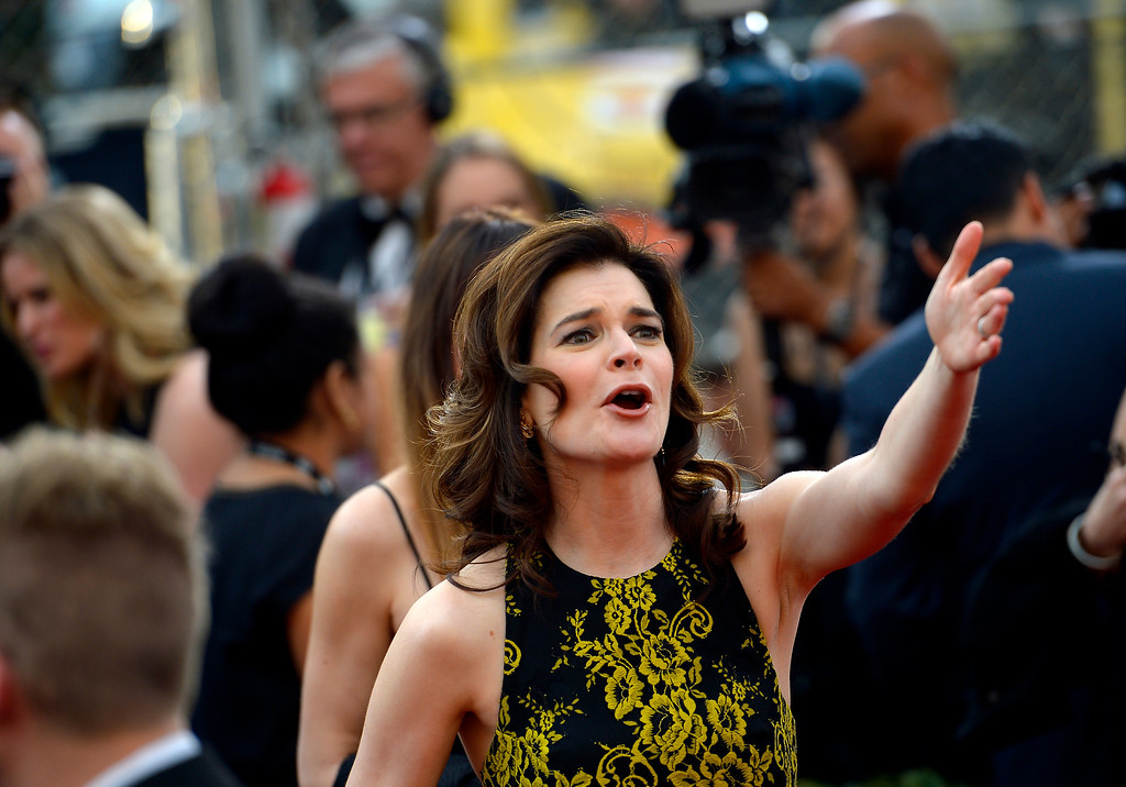 . Betsy Brandt on the red carpet at the 20th Annual Screen Actors Guild Awards  at the Shrine Auditorium in Los Angeles, California on Saturday January 18, 2014 (Photo by Andy Holzman / Los Angeles Daily News)