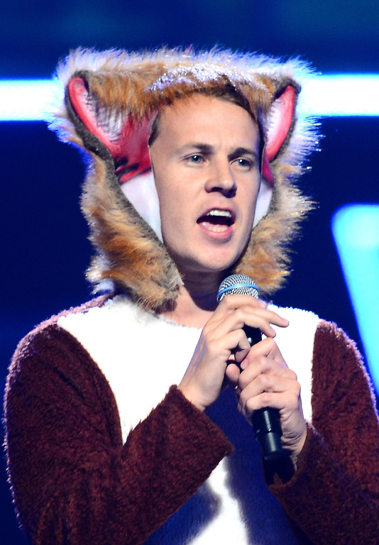. Ylvis performs onstage during the iHeartRadio Music Festival at the MGM Grand Garden Arena on September 20, 2013 in Las Vegas, Nevada.  (Photo by Ethan Miller/Getty Images for Clear Channel)