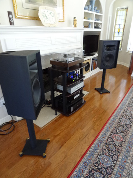 These are based on the Pi Speakers 3 Pi design. They are intended for PA use in live acoustic music concerts. Compared to most commercial speakers in the $250-$500 price range their sound is far better, without the big peak found at about 300hz in most Peavey and JBL pro speakers. Also, the treble extension is flat to 20khz, without the rolloff above 14khz found in commercial speakers.