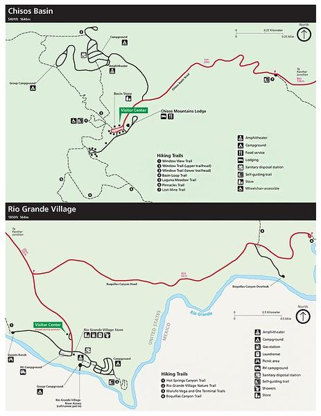 Big Bend National Park (Chisos Basin & Rio Grande Village Areas)
