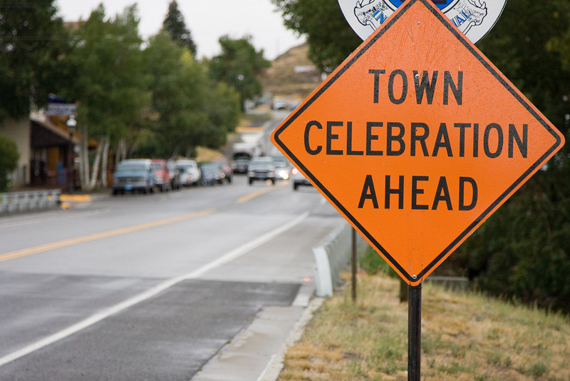 The town of Meeteetsee is celebrating.  You have been warned...
