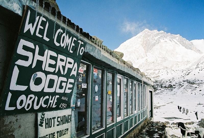Mehra Peak (5820m) in the background