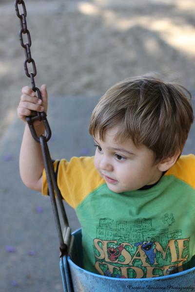 September 7, 2009   Oliver on the swings