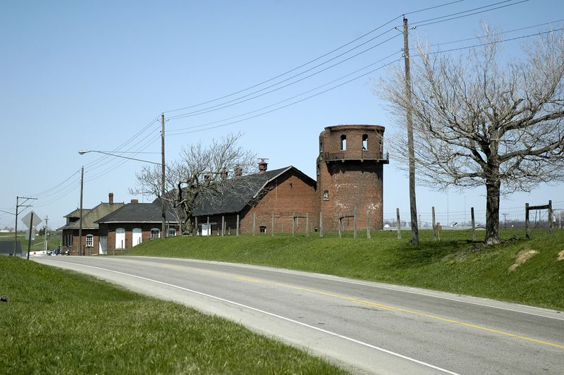 Honor Farm.  This old brick barn at the Mansfield Correctional Institution was recently torn down.