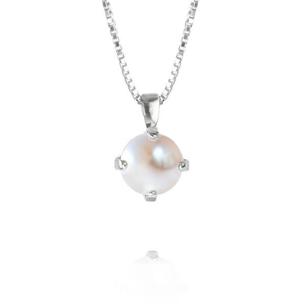 Classic Petite Necklace / Pearl Rhodium