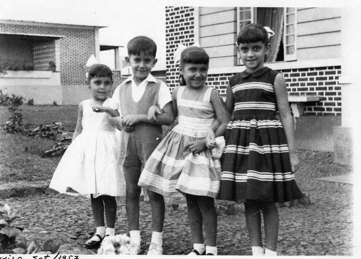 Luxilo Setembro 1957  Nônô, Jorge Correia, Misita Melo Abreu e Nanda Ferreira da Silva