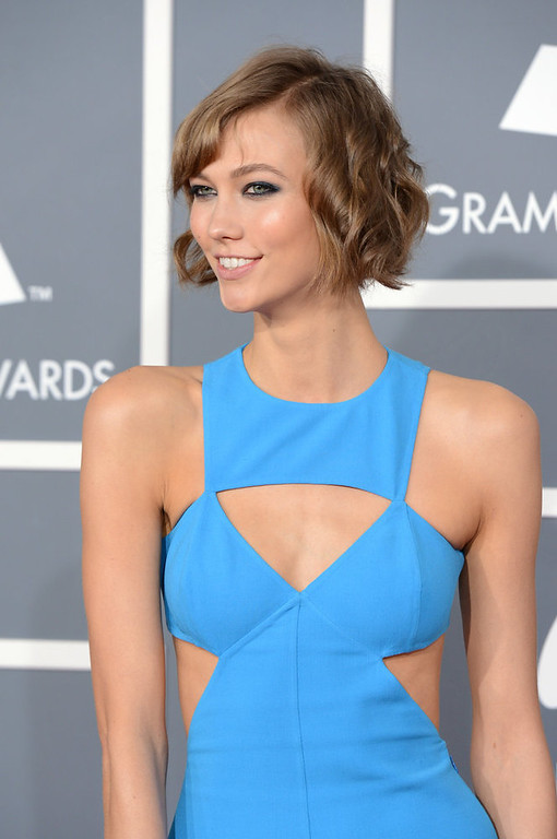 . Model Karlie Kloss arrives at the 55th Annual GRAMMY Awards at Staples Center on February 10, 2013 in Los Angeles, California.  (Photo by Jason Merritt/Getty Images)