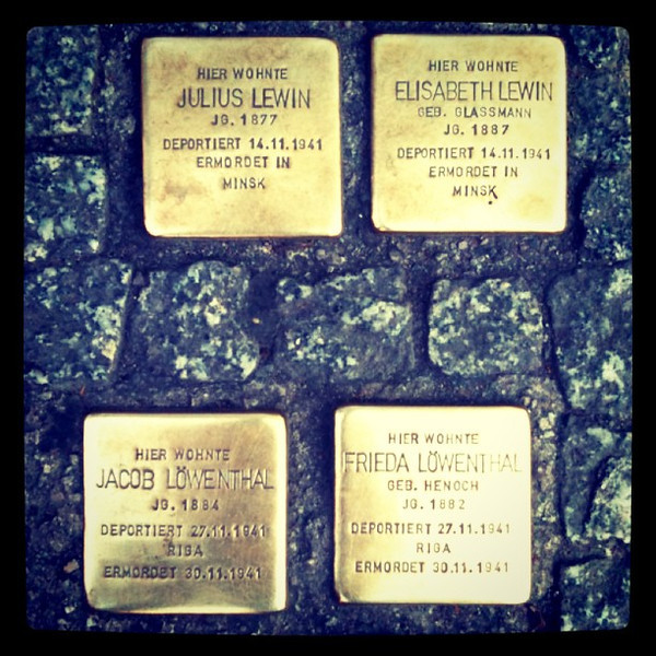 Stolperstein, Stumbling Blocks - Memorials to Holocaust Victims, #Berlin