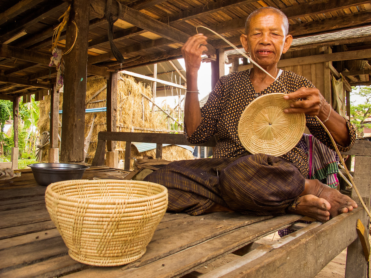 Basket Weaver in Cambodia