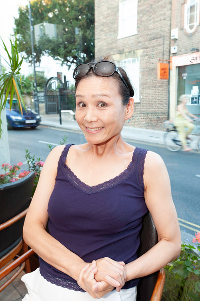 takako in La Gaffe Italian restaurant, Hampstead, NW3, London, United Kingdom