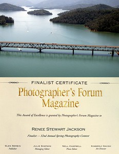 2012 Photographer's Forum Magazine Finalist in the 32nd Annual Spring Photography Contest Over 12,000 images were submitted from 61 countries. 923 were chosen as Finalists