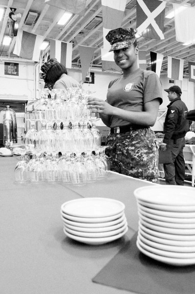 CS/EMFA Pinnock setting up for the day's special guests.