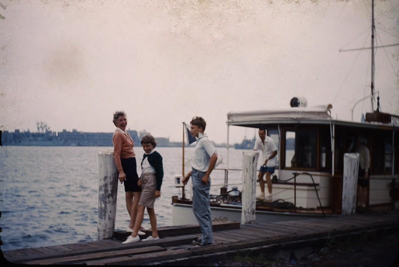 1955 08 Laswell's boat Newport.jpg