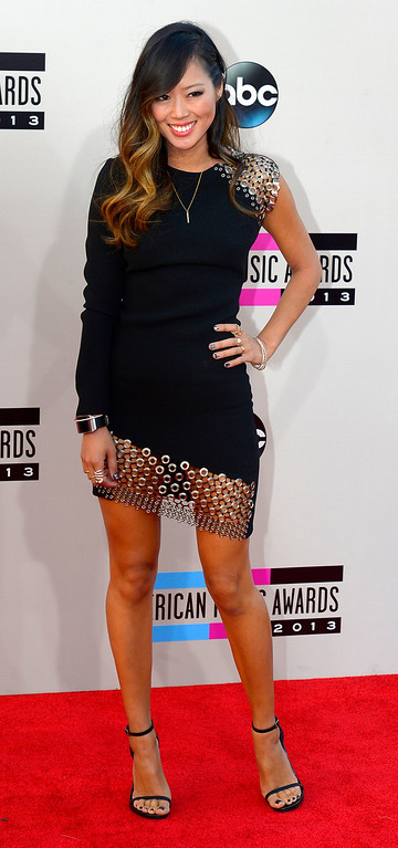 . Aimee Song arrives to the American Music Awards  at the Nokia Theatre in Los Angeles, California on Sunday November 24, 2013 (Photo by Andy Holzman / Los Angeles Daily News)