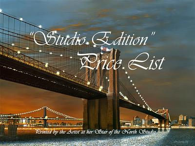 """STUDIO EDITION"" PRICE LIST (Rev. 02/14/16)"