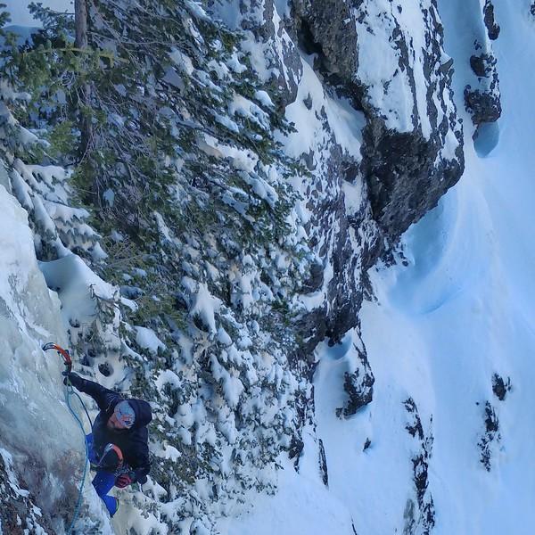 Christian McConnell on Bobo Like, Hyalite Canyon, Montana