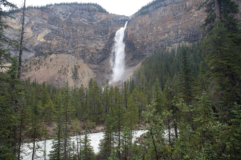 Takakkaw Falls in Yoho National Park, the second highest waterfall in Canada