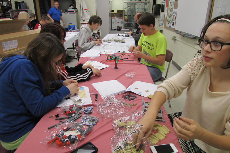 Members build props needed for FLL