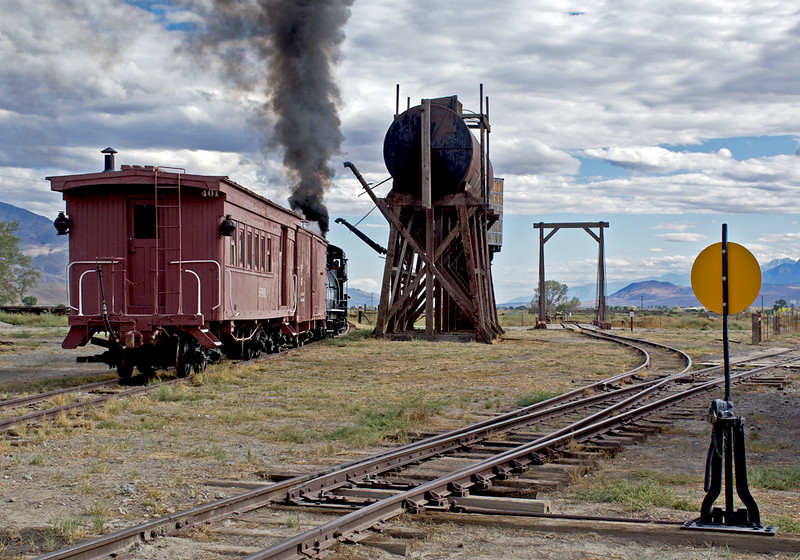 SP401 was built in 1881 for the SP-owned San Joaquin and Sierra Nevada Railway by Carter Brothers as a combine and originally had a clerestory roof.  In 1888 it was transferred to the Northern Railway, another SP subsidiary, as their 1009,  and to SP's South Pacific Coast Railway in 1904  On July 1, 1906, it became the property of the Nevada and California Railway and was numbered 8. In 1912 when the Nevada and California was changed to Southern Pacific, the car was renumbered MW8 and was assigned to work train service. It was renumbered several times during it work train days, MW 8-1, 16-B and 16.  In 1947 the car was rebuilt for caboose and passenger service and renumbered 401. The passenger car trucks were replaced with freight car trucks in 1948, and in late 1952, it was rebuilt again with a flat roof. The car was retired when the railroad was abandoned and was donated and moved to the Laws Museum on April 30, 1960.