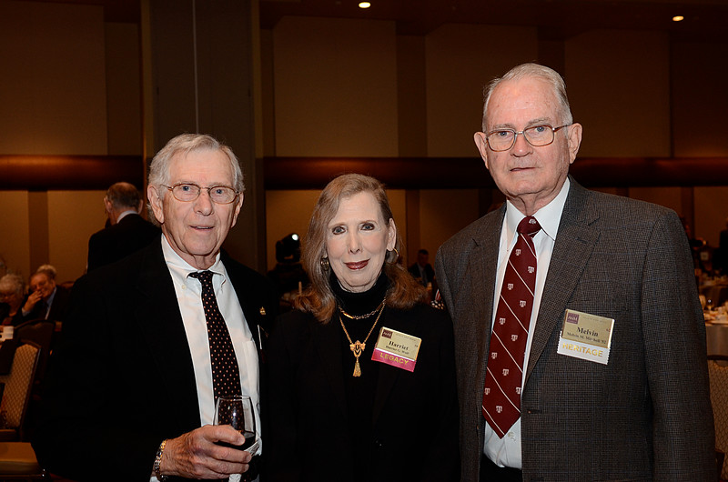 David Wolf '52, Harriet Wolf, Melvin Mitchell '52
