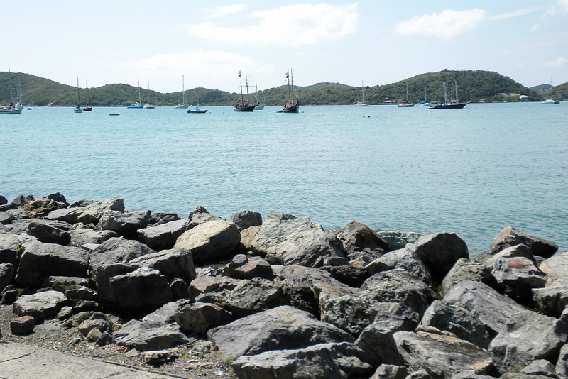 Parting shot of the sail boats at St Thomas