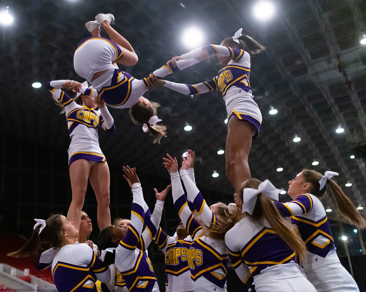 Broughton cheerleading Pre-States. November 16, 2019. D4S_1633