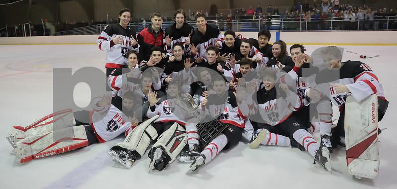 MCT HS Hockey 2019 Finals Princeton vs Hun - Celebration and Team Photos