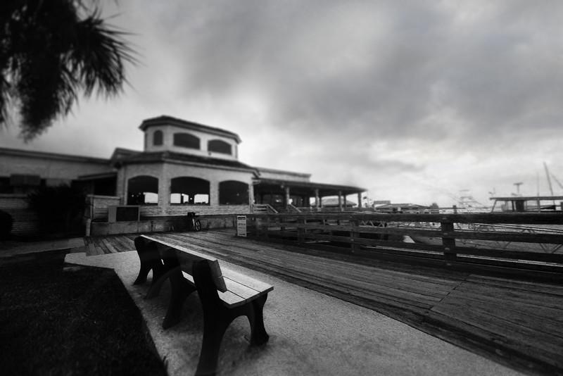 Bench on dock Fernandino Beach.jpg