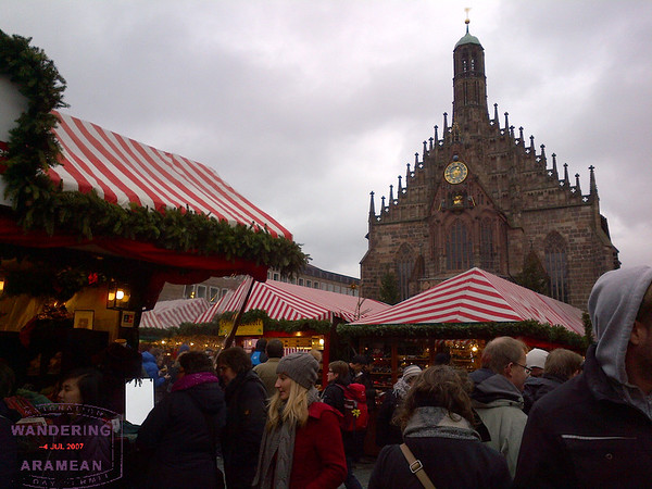 A similar vibe at the Christmas Market in Nuremberg, though much more crowded