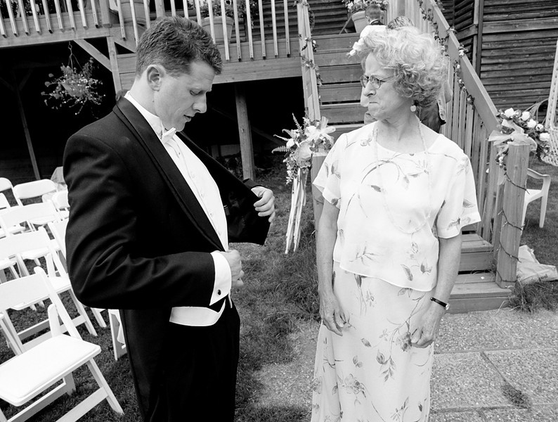 The groom's mother gives her opinion