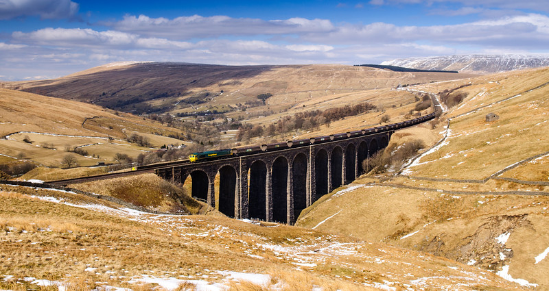 Freight train on the Settle-Carlisle Line