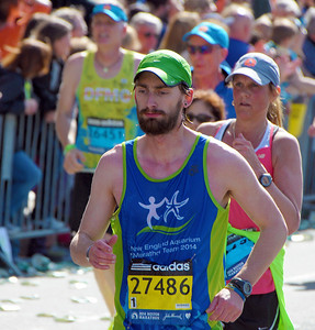 Sean Running the 118th Boston Marathon 4/21/14